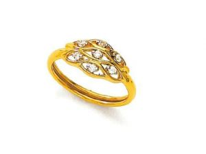 Buy Avsar Real Gold and Diamond artistical Ring online
