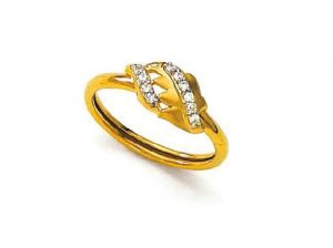 Buy Avsar Real Gold and Diamond Fashion Ring online
