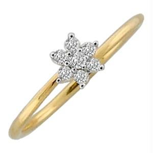 Buy Avsar Real Gold And Diamond Pressure Set Ring online