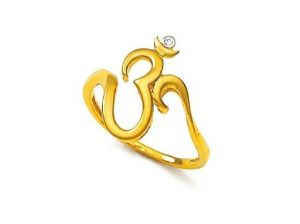 Buy Avsar Real Gold and Diamond Divine Om Ring online
