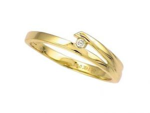 Buy Avsar Real Gold And Diamond Diamond In Shel Ring online