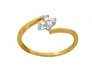 Buy Avsar Real Gold And Diamond Four Stone Ring online