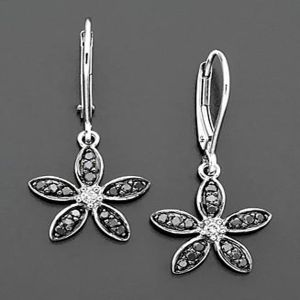 Buy Ag Silver & Real Diamond Sonal  Earring online