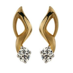 Buy Ag Silver & Real Diamond Akshara Earring online