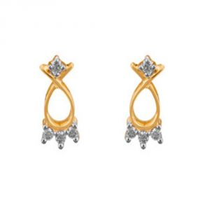 Buy Ag Real Diamond Kinjal Earring online