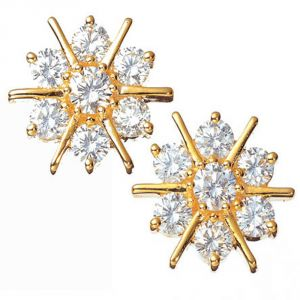 Buy Ag Real Diamond Kolakatta Earring online