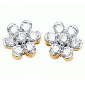 Buy Ag Real Diamond Drushti  Earring online