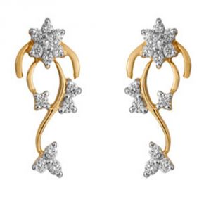Buy Ag Real Diamond Swara Earring online