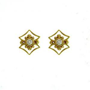 Buy Ag Real Diamond Channai Earring Agse0141a online