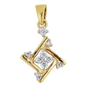 Buy Ag Real Diamond Pranali Pendant online