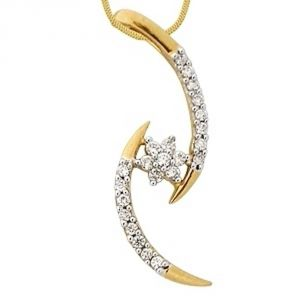 Buy Ag Real Diamond Kanika Pendant online