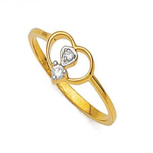 Buy Ag Silver & Real Diamond Poonam Ring online