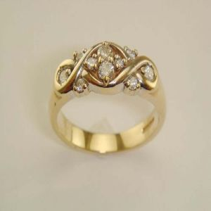 Buy Ag Silver & Real Diamond Chitra Ring online