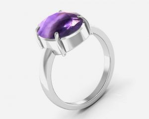 Buy Kiara Jewellery Certified Katela 5.5 cts or 6.25 ratti Amethyst Ring online