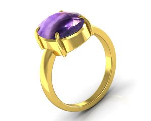 Buy Kiara Jewellery Certified Katela 6.5 cts or 7.25 ratti Amethyst Ring online