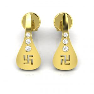 Buy Avsar Real Gold and Diamond  Archana Earring online