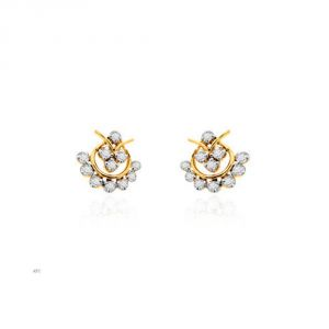 Buy Avsar Real Gold And Diamond Sakshi Earring (code - Ave002n) online