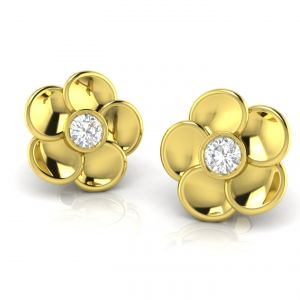 Buy Avsar Real Gold and Diamond  Samiksha Earring online