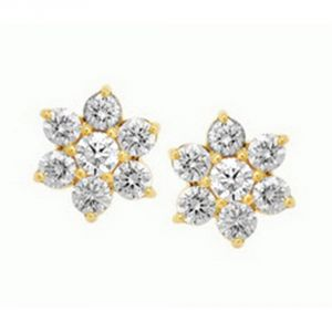 Buy Avsar Real Gold And Diamond Anajali Earring (code - Ave052n) online