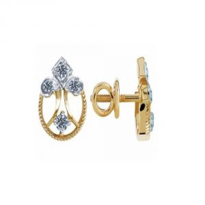Buy Avsar Real Gold And Diamond Sneha Earring ( Code - Ave091n ) online