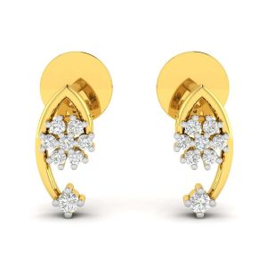Buy Avsar Real Gold and Diamond Sadhana Earring online