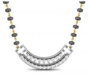 Buy Avsar Real Gold and Swarovski Stone Sachi  Mangalsuta online
