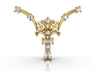 Buy Avsar Real Gold and Swarovski Stone Madras  Mangalsuta online