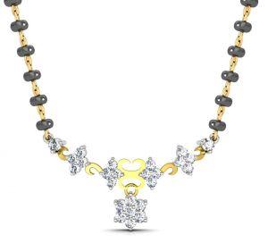 Buy Avsar Real Gold And Swarovski Stone Vishakha Mangalsutra Avm058yb online