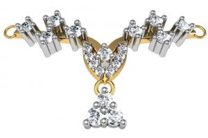 Buy Avsar Real Gold and Diamond Katrina Mangalsuta online