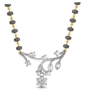 Buy Avsar Real Gold And Swarovski Stone Bengaluru Mangalsutra Avm067wb online