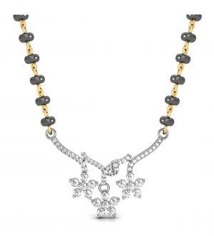 Buy Avsar Real Gold And Swarovski Stone Bhopal Mangalsutra Avm070wb online