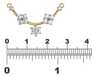 Buy Avsar Real Gold and Diamond Manipur Mangalsuta online