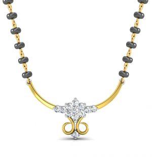 Buy Avsar Real Gold and Swarovski Stone Chennai Mangalsuta online