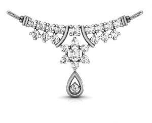 Buy Avsar Real Gold And Swarovski Stone Pooja Mangalsutra Avm001wb online
