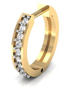 Buy Avsar Real Gold And Swarovski Stone Vashi Nose Ring Avn008yb online