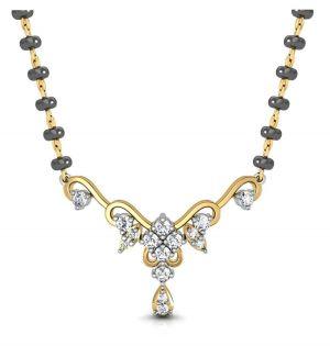 Buy Avsar Real Gold And Swarovski Stone Sonali Mangalsuta Avm068yb online