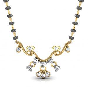 Buy Avsar Real Gold and Swarovski Stone Jammu Mangalsuta online