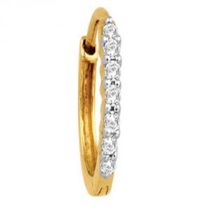 Buy Avsar Real Gold And Diamond Sakshi Nose Ring Code Avno008n