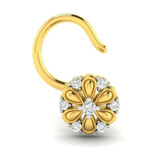 Buy Avsar Real Gold and Diamond Manali Nosering online