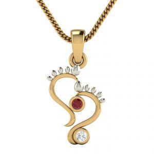 Buy Avsar Real Gold Samita Pendant Avp1yp online