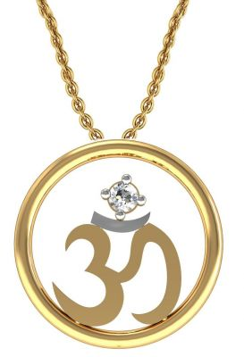 Buy Avsar Real Gold And Swarovski Stone Manali Pendant Avp001yb online