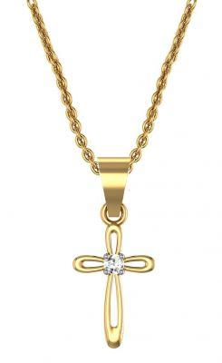 Buy Avsar Real Gold And Swarovski Stone Anjali Pendant Avp002yb online