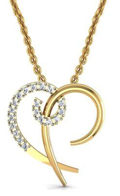 Buy Avsar Real Gold And Swarovski Stone Sonali Pendant Avp003yb online