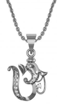 Buy Avsar Real Gold And Swarovski Stone Poonam Pendant Avp005wb online