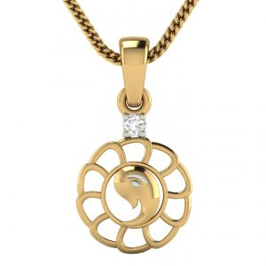 Buy Avsar Real Gold and Diamond Avantika Pendant online