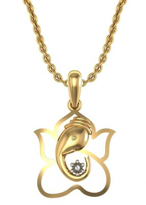 Buy Avsar Real Gold and Swarovski Stone Kinjal Pendant online
