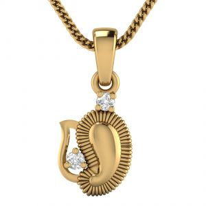 Buy Avsar Real Gold and Diamond Naina Pendant online
