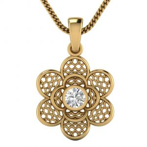 Buy Avsar Real Gold and Diamond  Aarti Pendant online