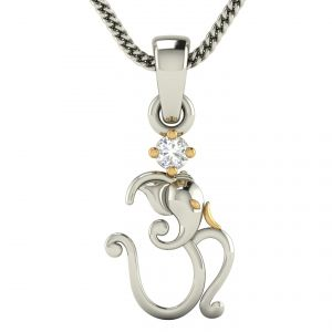 Buy Avsar Real Gold and Diamond  Sejal Pendant online