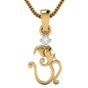 Buy Avsar Real Gold and Diamond  Priya Pendant online